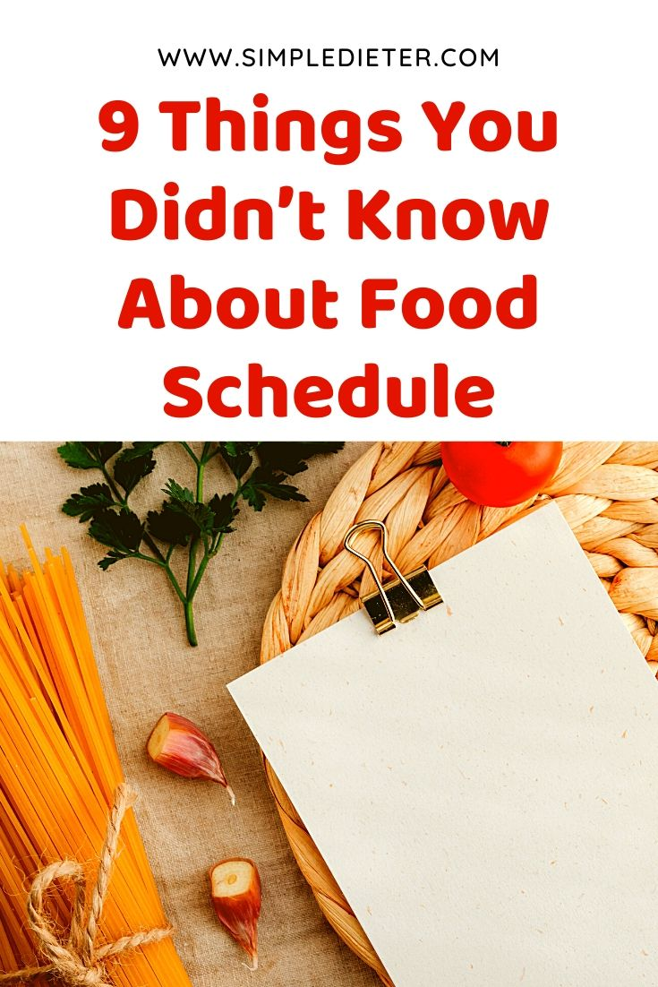 9 Things You Didn't Know About Food Schedule